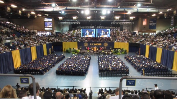 Flown LED Wall and Audio, Commencement Proceedings - UC Davis California
